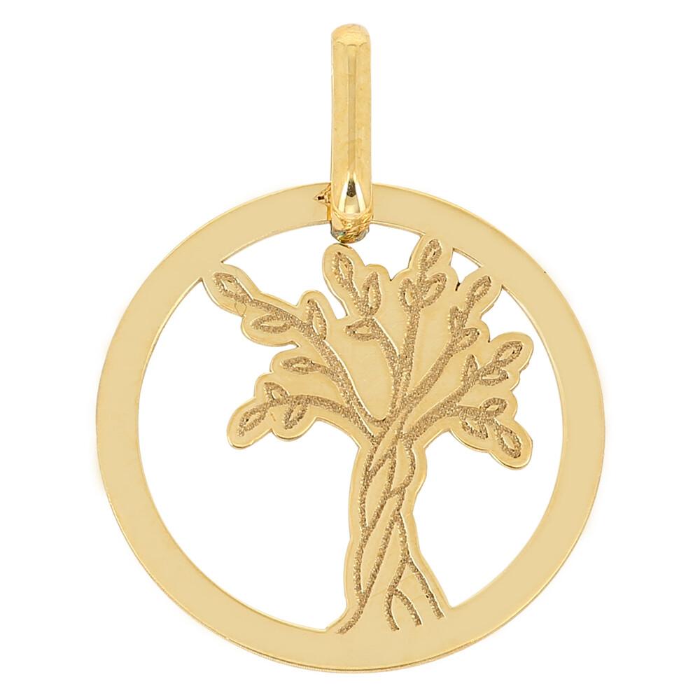 Photo de Médaille Arbre de vie naissant ajourée - Or jaune 18ct