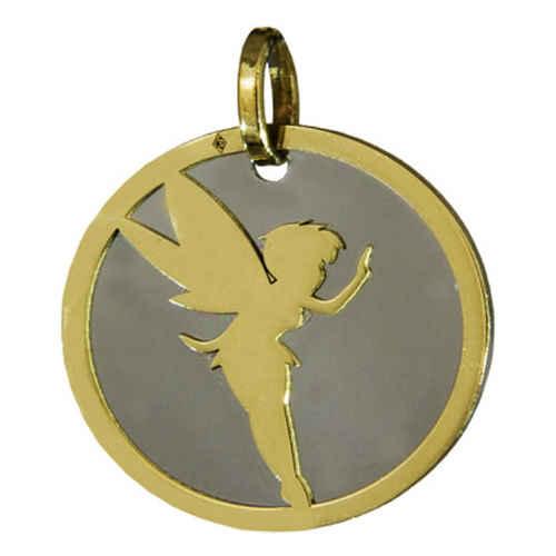 Photo de Médaille Fée - Or jaune 18ct et acier poli