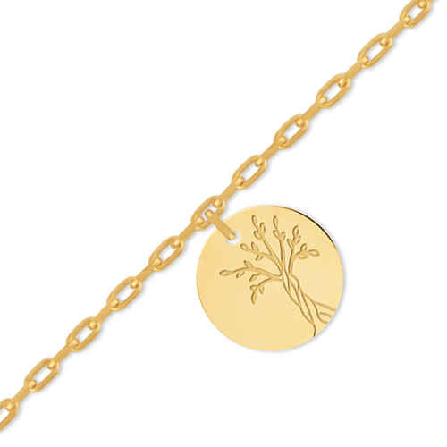 Photo de Bracelet bébé arbre de vie - Or jaune 18ct