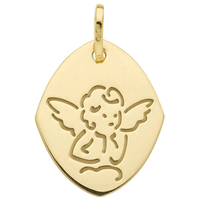 Photo de Médaille Ange losange - Or jaune 18ct