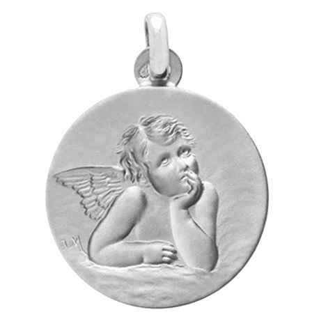 Photo de Médaille Ange pensif - Argent massif
