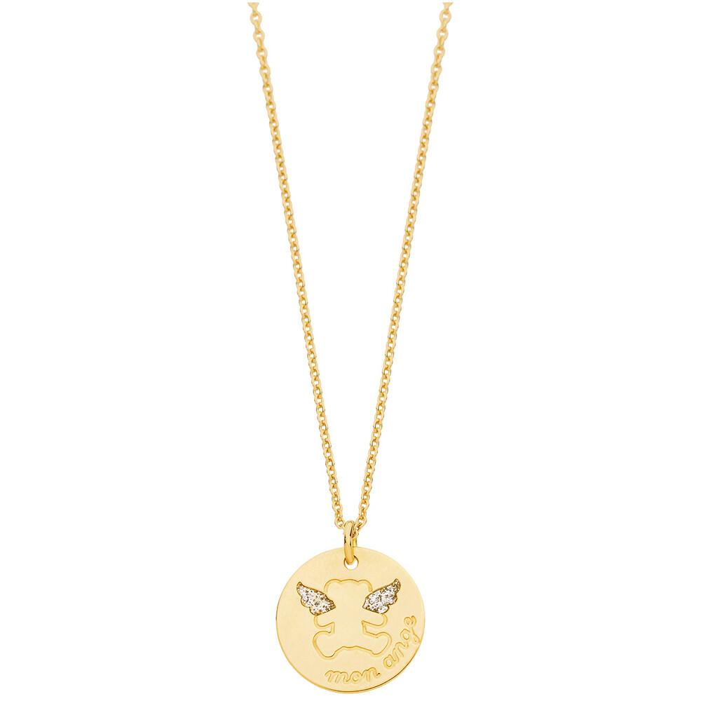 Photo de Collier chaine & médaille ange LuluCastagnette - Or jaune 9ct