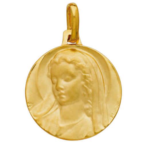 Photo de Médaille Vierge à la coiffe - Or jaune 18ct
