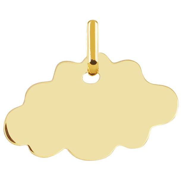 Photo de Médaille Nuage - Or jaune 18ct