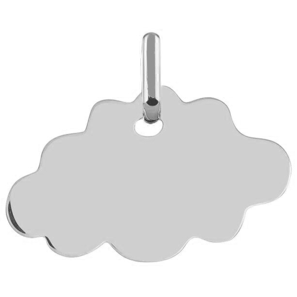 Photo de Médaille Nuage - Or blanc 18ct