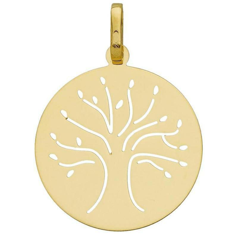 Photo de Médaille Arbre de vie élancé ajourée - Or jaune 9ct