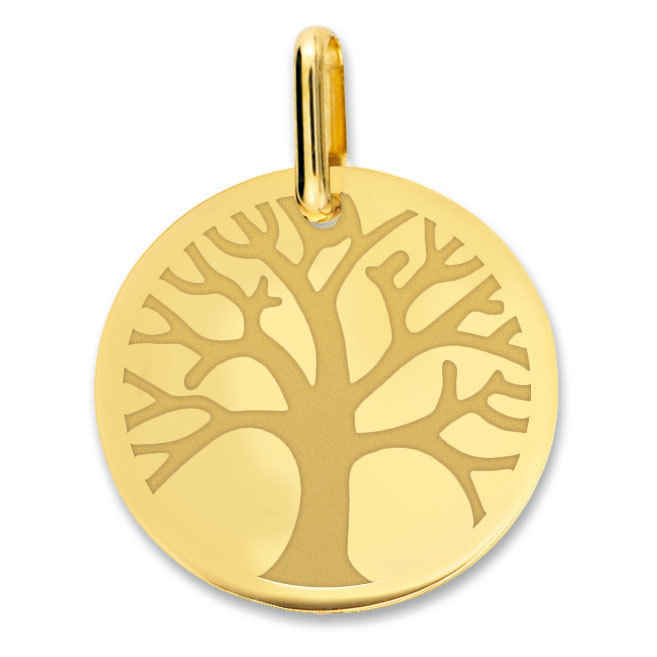 Photo de Médaille Arbre de vie - Or jaune 18ct