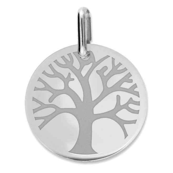 Photo de Médaille Arbre de vie - Or blanc 9ct