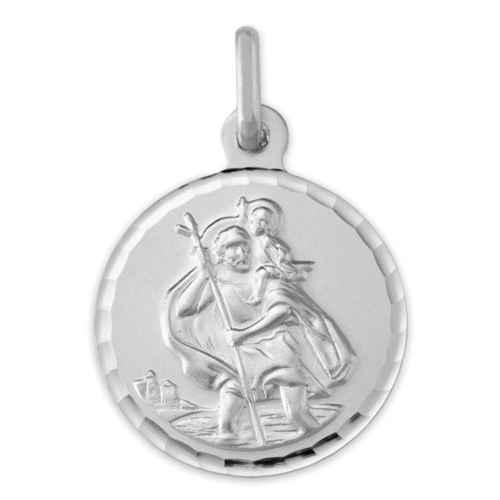 Photo de Médaille Saint-Christophe - Or blanc 9ct