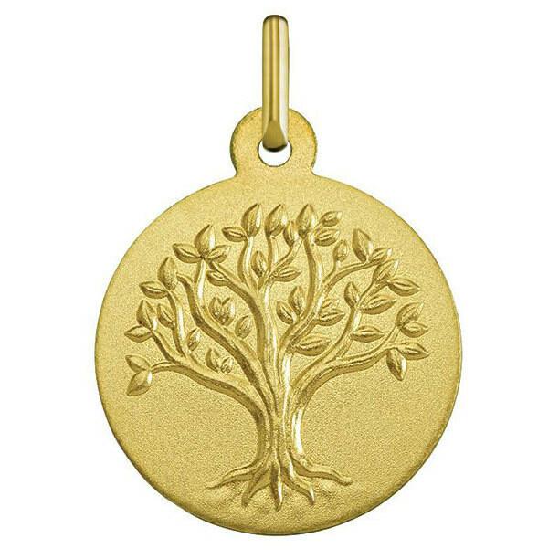 Photo de Médaille Arbre de vie bourgeonnant - Or jaune 18ct