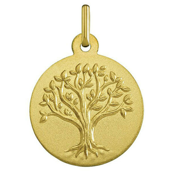 Photo de Médaille Arbre de vie bourgeonnant - Or jaune 18ct