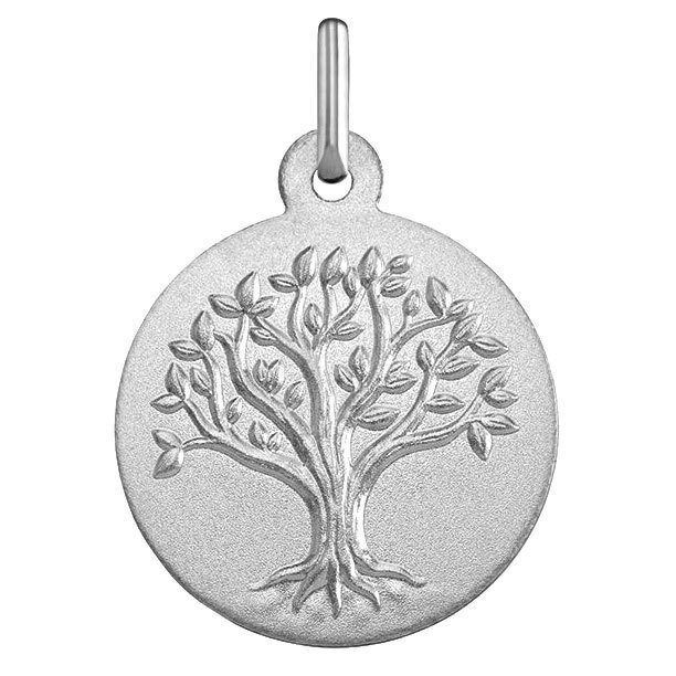 Photo de Médaille Arbre de vie bourgeonnant - Or blanc 18ct