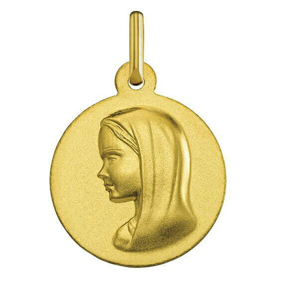 Photo de Médaille Vierge souriante - Or jaune 18ct