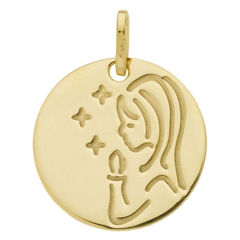 Photo de Médaille Vierge aux étoiles - Or jaune 18ct
