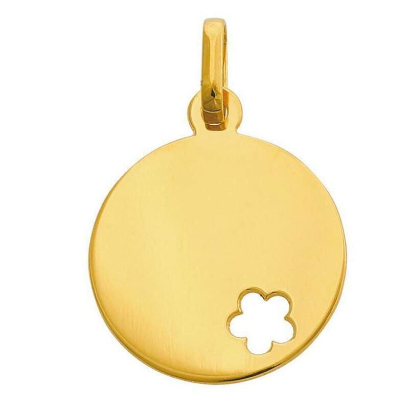Photo de Médaille fleur ajourée - Or jaune 9ct