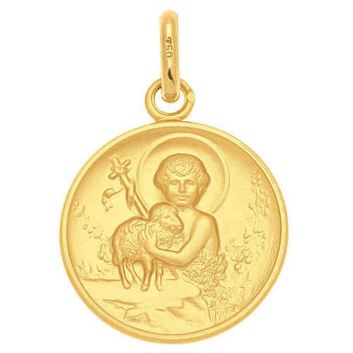Photo de Médaille Agneau de Dieu et St Jean- Baptiste - Or jaune 18ct