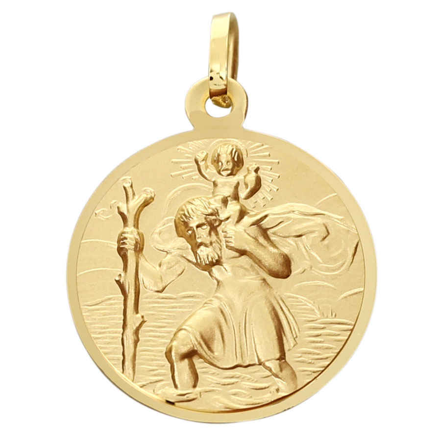 Photo de Médaille Saint- Christophe - Or jaune 9ct