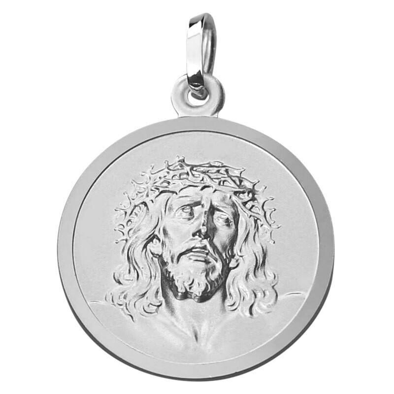 Photo de Médaille Christ Sainte couronne - Argent massif