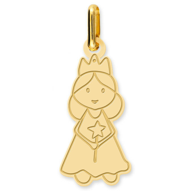 Photo de Pendentif fée - Or jaune 9ct