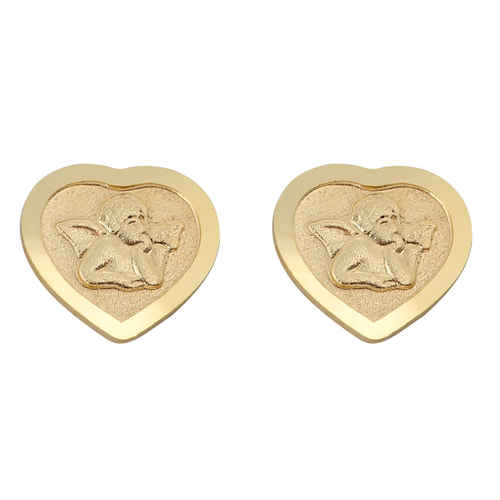 Photo de Boucles d'oreilles anges - Or jaune 9ct