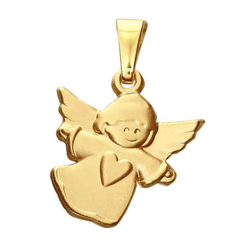 Photo de Pendentif Ange Coeur - Or jaune 9ct