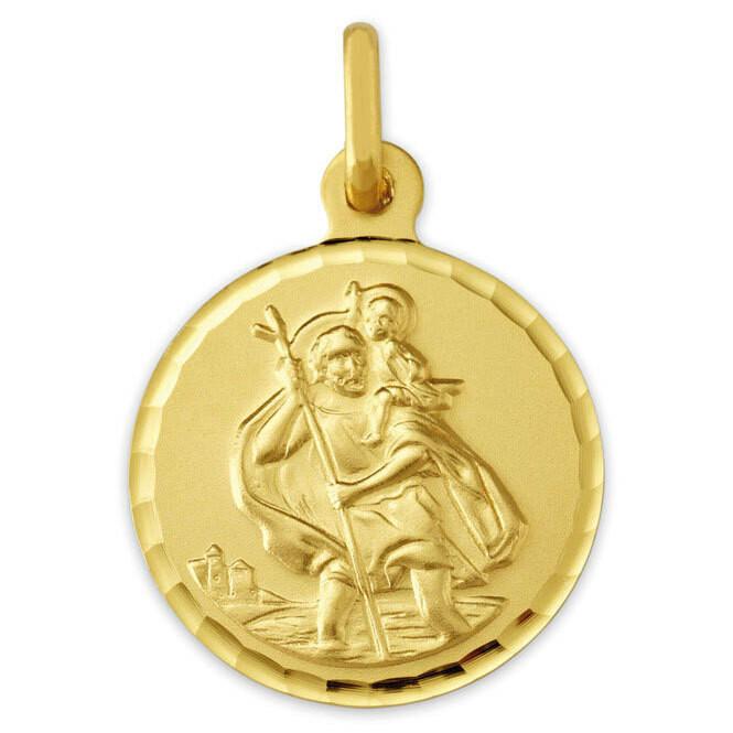Photo de Médaille Saint-Christophe - Or jaune 9ct