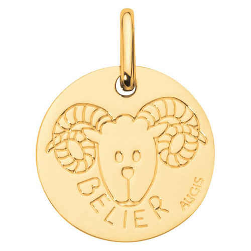 Photo de Médaille signe astrologique - Or jaune 18ct