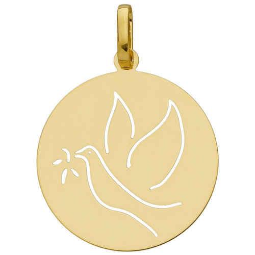 Photo de Médaille de la Colombe ajourée - Or jaune 18ct