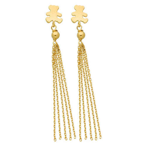 Photo de Boucle d'oreilles pompon LuluCastagnette - Or jaune 9ct