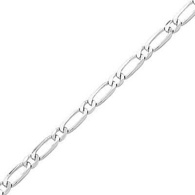 Photo de Bracelet maille cheval alternée - Or blanc 18ct