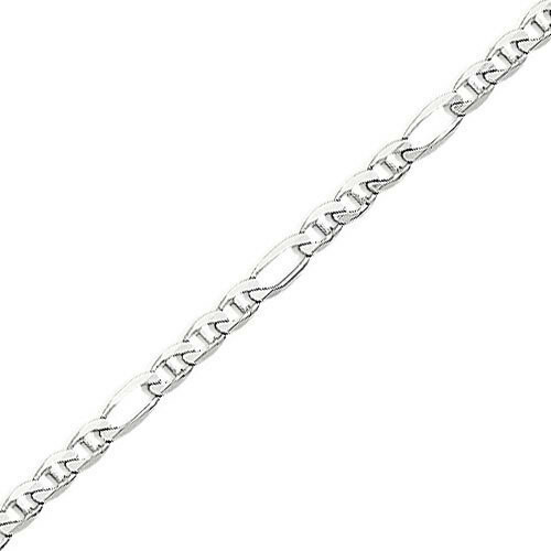 Photo de Bracelet maille cheval alternée triple - Or blanc 18ct