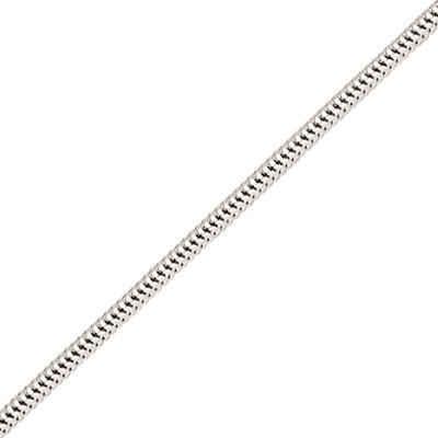 Photo de Bracelet maille serpentine ronde - Or blanc 18ct