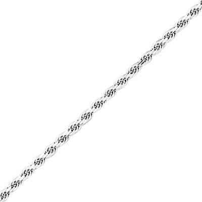 Photo de Bracelet maille corde - Or blanc 18ct