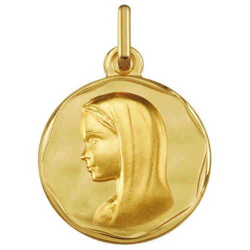 Photo de Médaille Vierge souriante - Or jaune 9ct