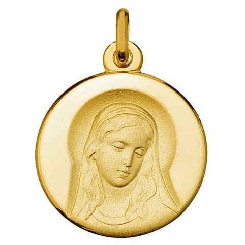 Photo de Médaille Vierge sagesse - Or jaune 9ct