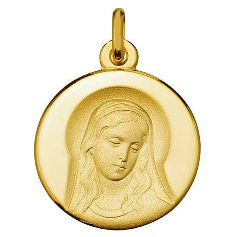 Photo de Médaille Vierge sagesse - Or jaune 9ct