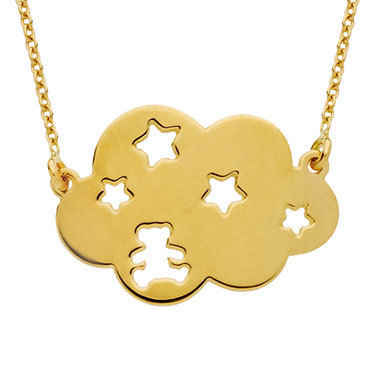 Photo de Collier nuage étoile LuluCastagnette - Or jaune 9ct