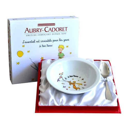 Photo de Coffret Petit Prince assiette et cuillère inox