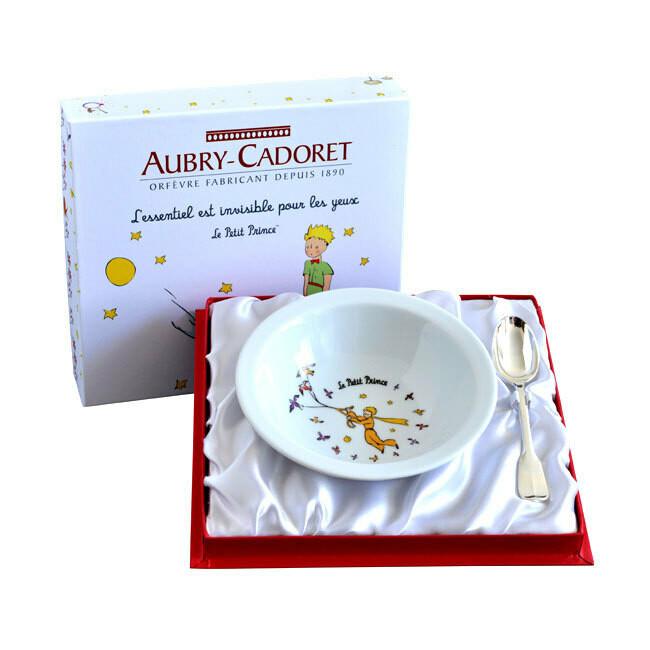 Photo de Coffret Petit Prince assiette et cuillère uniplat