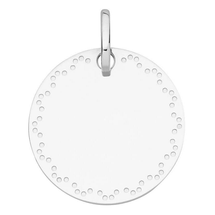 Photo de Médaille frise pointillée - Or blanc 18ct
