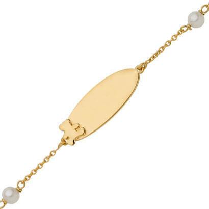 Photo de Gourmette bébé perles LuluCastagnette - Or jaune 9ct