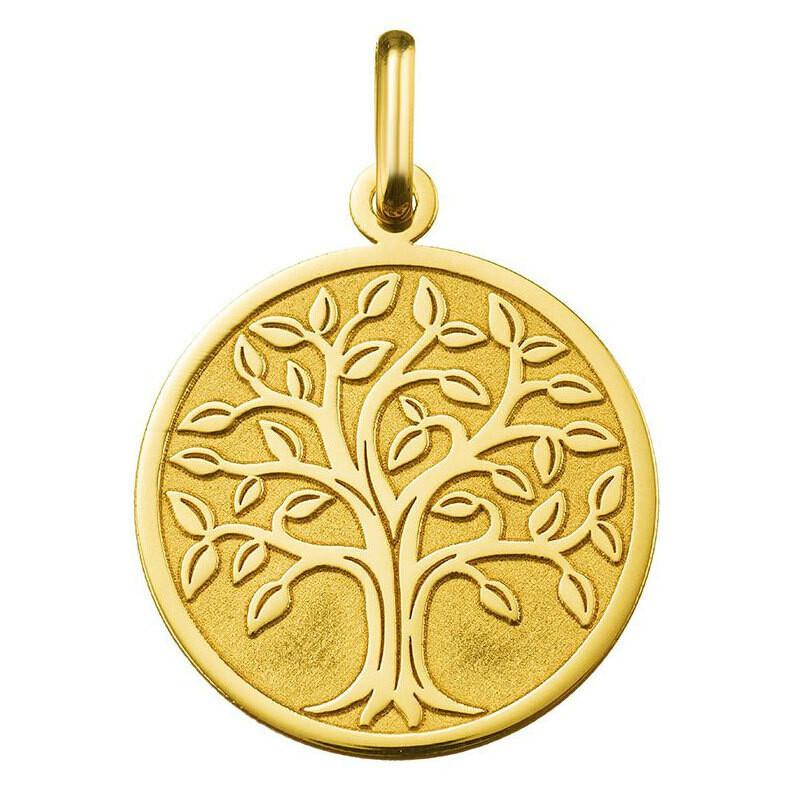 Photo de Médaille Arbre de vie majestueux - Or jaune 18ct