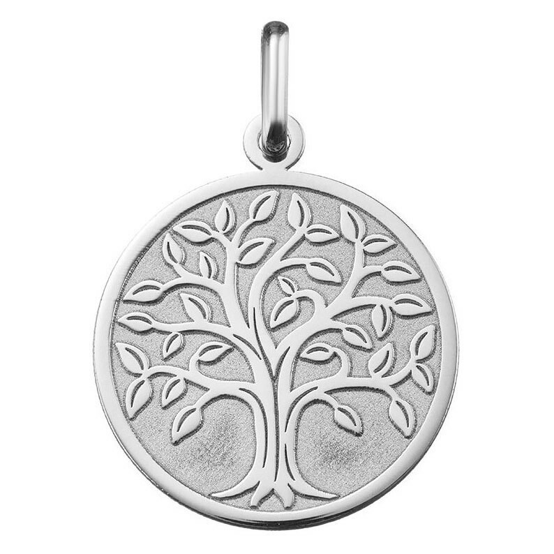 Photo de Médaille Arbre de vie majestueux - Or blanc 18ct