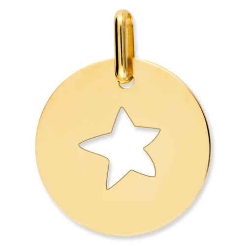Photo de Médaille étoile ajourée-Or jaune 9ct