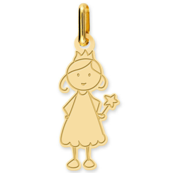 Photo de Pendentif fée - Or jaune 18ct