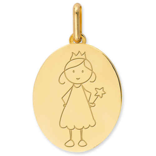 Photo de Médaille Petite Fée - Or jaune 9ct