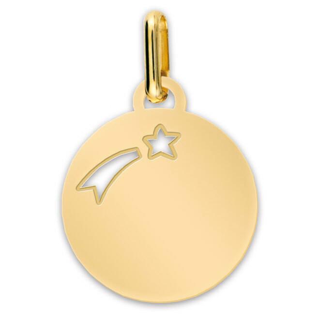 Photo de Médaille Etoile filante - Or jaune 9ct