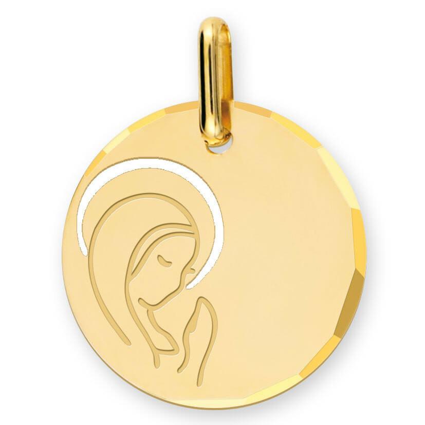 Photo de Médaille Vierge pureté - Or jaune 9ct