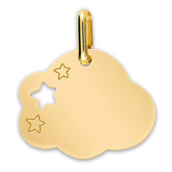 Photo de Médaille Nuage aux étoiles - Or jaune 9ct