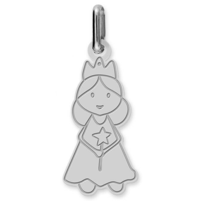 Photo de Pendentif fée - Or blanc 9ct
